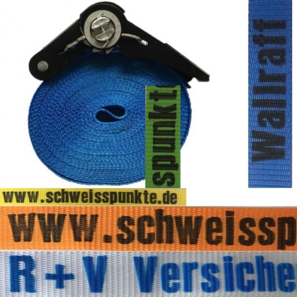 Bedruckter Spanngurt 25mm 1-teilig