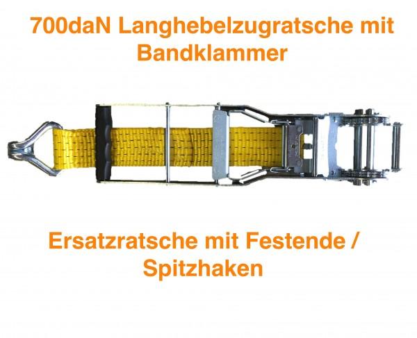 ERSATZ- Langhebelratsche 700daN mit Festende und Spitzhaken