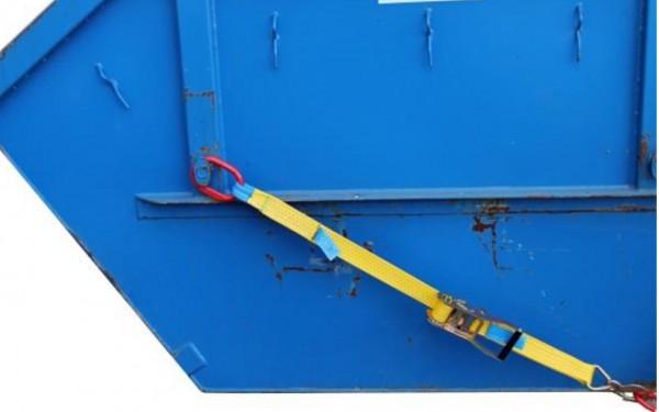 Container und Absatzmulden Verzurrung