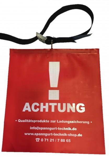 Rote Fahne / Warn Flagge mit Befestigungsgurt
