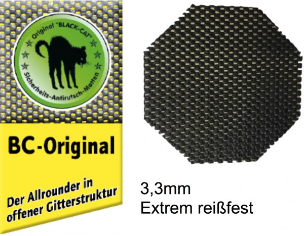 Blackcat Antirutschpad 8-Kant 15 x 15cm